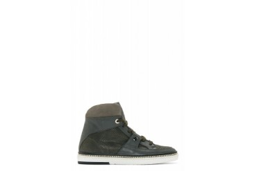 Jimmy Choo Charcoal Grey Snakeskin Barlowe Sneakers