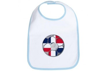 Dominican Republic Flag World Cup Futbol Soccer Fo Soccer Bib by CafePress