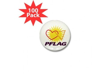 PFLAG Logo Gay pride Mini Button 100 pack by CafePress