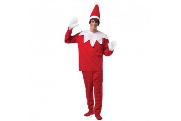 Mens Elf On The Shelf Halloween Christmas Costume