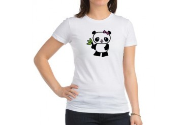 Pretty Panda Cool Jr. Jersey T-Shirt by CafePress