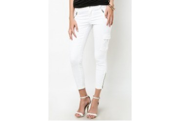 Cargo Zip Crop Pants