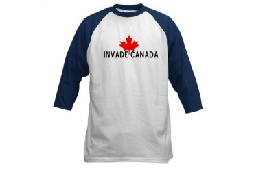 Invade Canada Humor Baseball Jersey by CafePress