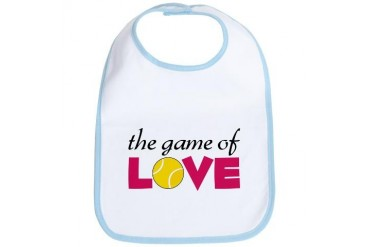 The Game Of Love Tennis Bib by CafePress