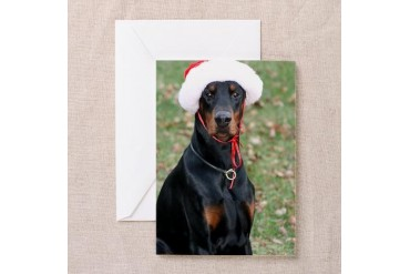 Doberman Pets Greeting Cards Pk of 10 by CafePress