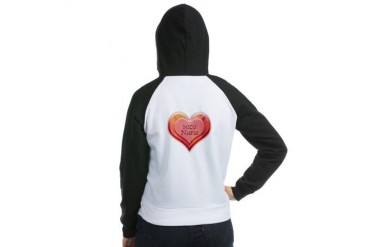 I heart NICU Nurse Nursing Women's Raglan Hoodie by CafePress