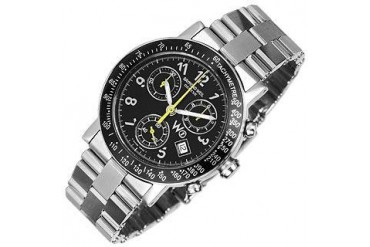 W1 - Black Stainless Steel Chronograph Watch w/ Tachymetre