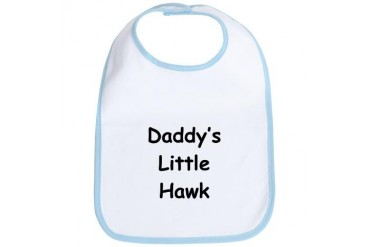 Daddy's Little Hawk Sports Bib by CafePress