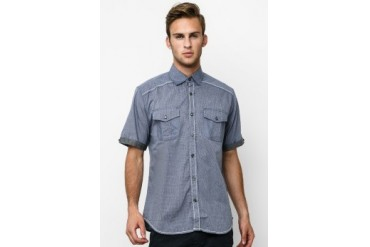 Intresse Casual Short Sleeve Cotton Check Comb Cambray