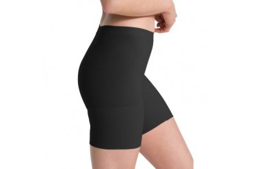 Spanx Power Shorts M 2744 Mid-Thigh Seamless All-Day Comfort Black Shaper