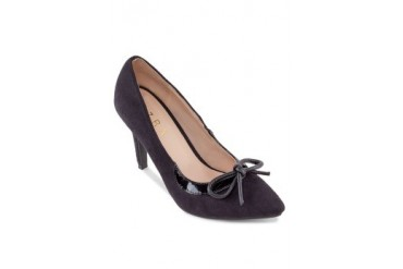 3602ee5bb6f EZRA by ZALORA Two Tone Kitten Heel Pumps With Double Ankle Strap ...