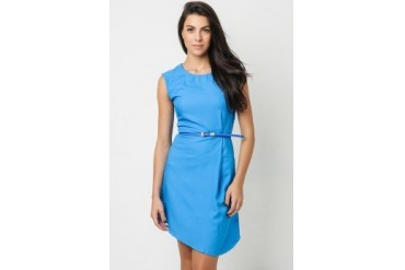 Happy Sleeveless shift dress with belt