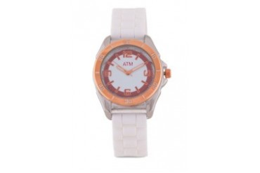 A Time Machine ATM 1010LOWFSW White Silicone Strap Watch