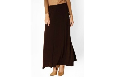 Silkaclothing Brown Basic Skirt