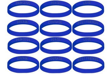 Assorted Royal Gel Bracelets (12 at 35¢ Each)