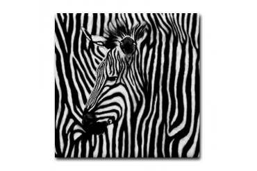 Zebra Striped Zebra Tile Coaster by CafePress