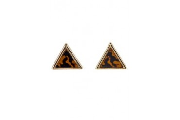 River Island Tortoise Shell Triangle Stud Earrings