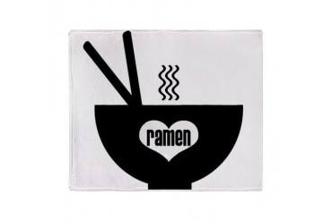 ramen Stadium Blanket Humor Throw Blanket by CafePress