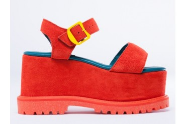 Adidas Originals X Opening Ceremony Rock Wedge in Dark Orange size 10.0