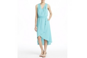 Sleeveless Crepe de Chine High-Low Dress