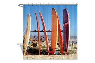 Fun Surf Boards Funny Shower Curtain by CafePress