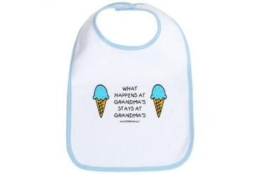 What Happens At Grandma's Grandma Bib by CafePress
