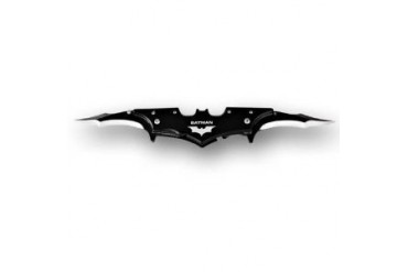 "7.5"" Black Batman Dark Knight Twin Blade Batarang Style Pocket Knife"