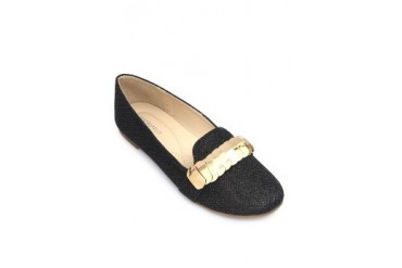 Black Flats Loafers