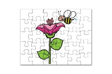 cute silly bee flower.png Funny Puzzle by CafePress