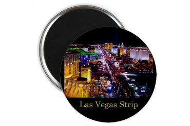 Las Vegas Strip Hobbies Magnet by CafePress