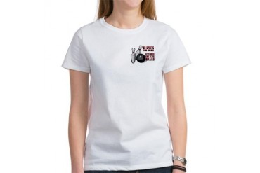 Alley Cats Bowling Women's T-Shirt by CafePress