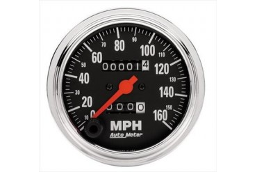 Auto Meter Traditional Chrome Mechanical Speedometer 2494 Gauges