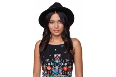 Womens Kendall & Kylie Accessories - Kendall & Kylie Detail Band Fedora
