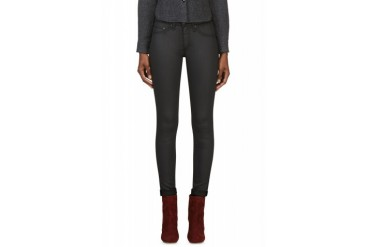 Rag And Bone Charcoal Grey Coated The Legging Jeans