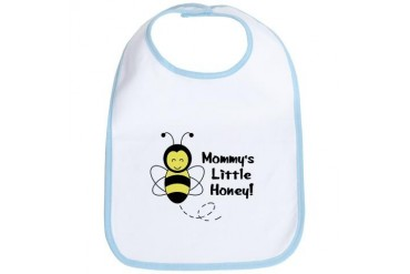 Mommy's Little Honey Baby Bee Bib by CafePress