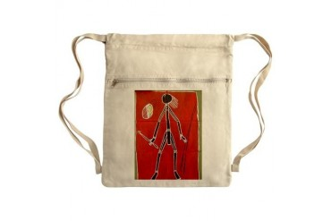 ABORIGINAL TOILET ART Sack Pack Art Cinch Sack by CafePress