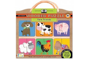 Farm Friends Wooden 12 Piece Puzzle