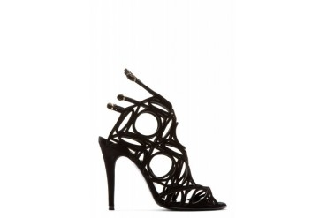 Pierre Hardy Black Suede Cage Sandal