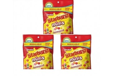 Starburst Original Fruit Chews Minis Unwrapped 3 Bag Pack