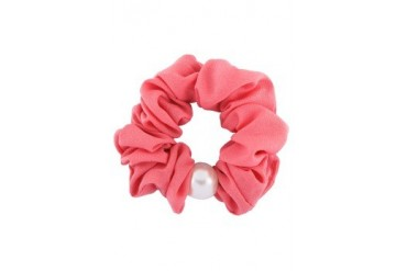 Fabric Hair Tie With Faux Pearl