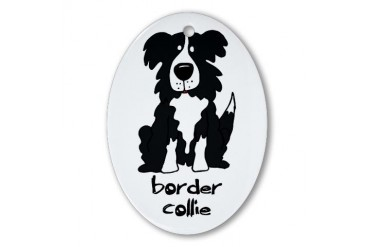 Border Collie Pets Oval Ornament by CafePress