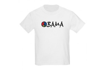 Obama Peace Kids Light T-Shirt