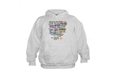 The Words of Gymnastics Kids Hoodie