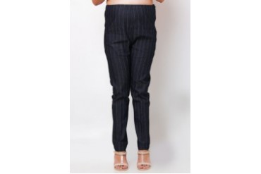 Mommy Plus Maternity Striped Denim Pants
