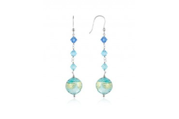 Mare - Turquoise Murano Glass Bead Earrings