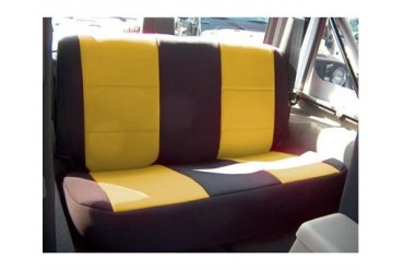 Coverking Black and Yellow Neoprene Rear Seat Cover  SPC136 Seat Cover