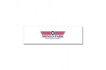 Menlo Park Pride California Car Magnet 10 x 3 by CafePress