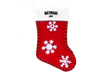 Maywood Rocks California Customized Felt Christmas Stocking by CafePress