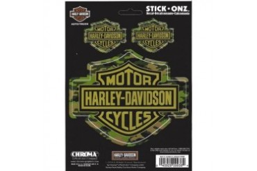 Harley Davidson Bar and Shield Camouflage Decals
