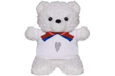 Black and white Teddy Bear by CafePress